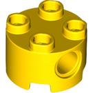 LEGO Yellow Brick 2 x 2 Round with Holes (17485 / 79566)