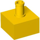 LEGO Yellow Brick 2 x 2 Studless with Vertical Pin (4729)