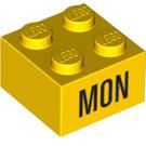 LEGO Yellow Brick 2 x 2 with Decoration (14800 / 97624)