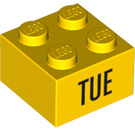 LEGO Yellow Brick 2 x 2 with Decoration (14801 / 97626)