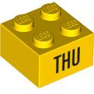 LEGO Yellow Brick 2 x 2 with Decoration (14803 / 97630)