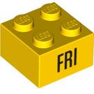 LEGO Yellow Brick 2 x 2 with Decoration (14804 / 97632)