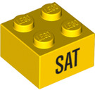 LEGO Yellow Brick 2 x 2 with Decoration (14805 / 97634)