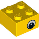 LEGO Yellow Brick 2 x 2 with Eye with Pupil (88397)