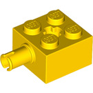 LEGO Yellow Brick 2 x 2 with Pin and Axlehole (6232)