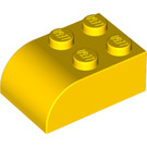 LEGO Yellow Brick 2 x 3 with Curved Top (6215)