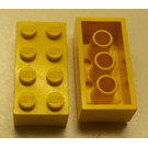 LEGO Yellow Brick 2 x 4 (Earlier, without Cross Supports)