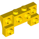 LEGO Yellow Brick 2 x 4 x 0.66 with Front Studs and Thick Side Arches (52038)