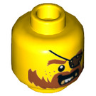 LEGO Yellow Brick Bounty Captain Plain Head (Recessed Solid Stud) (19208)