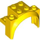 LEGO Yellow Brick with Tall Wheel Arch 2 x 4 x 2 1/3 (18974)