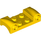 LEGO Yellow Car Mudguard 2 x 4 with Headlights and Curved Fenders (93590)