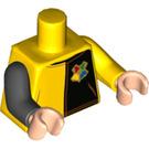 LEGO Yellow Cedric Diggory Minifig Torso (88585)