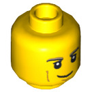 LEGO Yellow Chase McCain Head (Recessed Solid Stud) (12775)