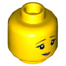 LEGO Yellow City People Pack Painter Minifigure Head (Recessed Solid Stud) (23177)