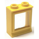 LEGO Yellow Classic Window 1 x 2 x 2 with Fixed Glass