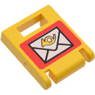 LEGO Yellow Container Box 2 x 2 x 2 Door with Slot with Mailbox Decoration
