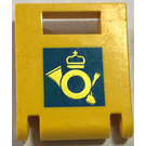 LEGO Yellow Container Box 2 x 2 x 2 Door with Slot with Post Logo