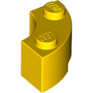 LEGO Yellow Corner Brick 2 x 2 with Stud Notch and Normal Underside (3063)
