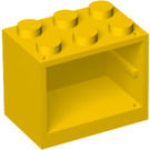 LEGO Yellow Cupboard 2 x 3 x 2 with Solid Studs (4532)