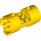 LEGO Yellow Cylinder 3 x 6 x 2 2/3 Horizontal Hollow Center Studs (30360)