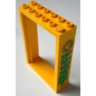 LEGO Yellow Door 2 x 6 x 7 Frame with Sunflower Sticker