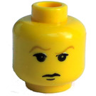 LEGO Yellow Draco Malfoy Minifigure Head with Brown Eyebrows (Safety Stud)