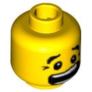 LEGO Yellow Dual Sided Scared Head Black Crows Feet (Recessed Solid Stud) (23090 / 59877)