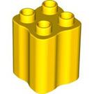 LEGO Yellow Duplo Brick 2 x 2 x 2 with Wavy Sides (31061)