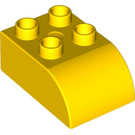 LEGO Yellow Duplo Brick 2 x 3 with Curved Top (2302)