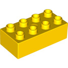 LEGO Yellow Duplo Brick 2 x 4 (3011 / 31459)