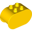 LEGO Yellow Duplo Brick 2 x 4 x 2 with Rounded Ends (6448)