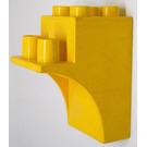LEGO Yellow Duplo Brick demi-arch