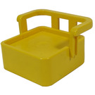 LEGO Yellow Duplo Chair with Back Support