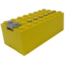 LEGO Yellow Electric 9V Battery Box 4 x 8 x 2.3 with Bottom Lid