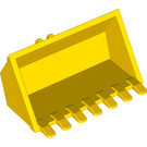 LEGO Yellow Excavator Bucket 6 x 3 with Click Hinge 2-Finger (21709 / 30394)