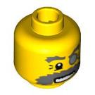 LEGO Yellow Explorer Head (Safety Stud) (91809)