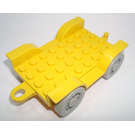 LEGO Yellow Fabuland Car Chassis 8 x 6.5 (Complete)