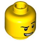 LEGO Jaune Fencer Plain Diriger (Goujon de sécurité) (19144)