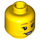 LEGO Yellow Flower Pot Girl Plain Head (Recessed Solid Stud) (38201)