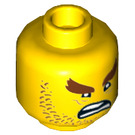 LEGO Yellow Great White Shark Army Minifigure Head (Recessed Solid Stud) (34082)