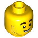 LEGO Yellow Harl Hubbs Plain Head (Recessed Solid Stud) (43308)