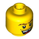 LEGO Yellow Head with Moustache and Missing Tooth (Safety Stud) (93320 / 95497)