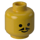 LEGO Yellow Head with Pointed Moustache (Safety Stud)