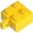 LEGO Yellow Hinge Brick 2 x 2 Locking with 1 Finger Vertical (no Axle Hole) (30389)