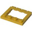 LEGO Yellow Hinge Car Roof 4 x 4 Sunroof (2349)