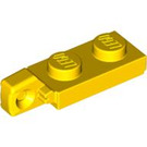 LEGO Yellow Hinge Plate 1 x 2 Locking with Single Finger on End Vertical with Bottom Groove (44301 / 49715)