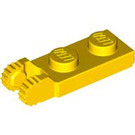 LEGO Yellow Hinge Plate 1 x 2 with Locking Fingers with Groove (44302 / 54657)