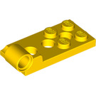 LEGO Yellow Hinge Plate Bottom 2 x 4 with 4 Studs and 3 Pin Holes (98285)