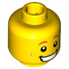 LEGO Yellow Hot Dog Man Minifigure Head (Recessed Solid Stud) (32618)