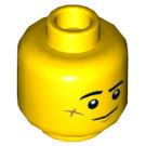 LEGO Yellow Jack Davids Plain Head (Recessed Solid Stud) (64686)